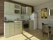 Кухня Соло Зелёная полоса 2000 мм