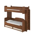 Кровать двухъярусная 800 с настилом Робинзон ИД 01.164а
