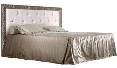 Кровать 2-х спальная с мягким элементом со стразами 1800 Тиффани