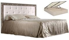 Кровать 2-х спальная с мягким элементом со стразами и подъёмным механизмом 1800 Тиффани