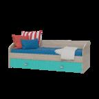 Кровать односпальная Сити аква