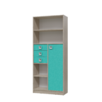 Шкаф-стеллаж с дверкой и ящиками Сити аква