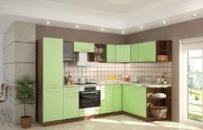Модульная кухня Арина Ноче марино/салатовая