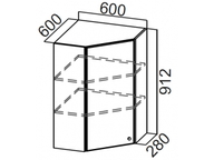 Шкаф навесной угловой Ш600у/912 Прованс