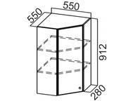 Шкаф навесной угловой Ш550у/912 Классика