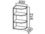 Шкаф навесной торцевой Ш400т/912 SV