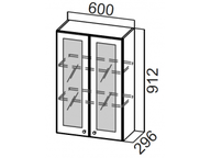 Шкаф навесной со стеклом Ш600с/912 Прованс