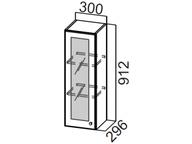 Шкаф навесной со стеклом Ш300с/912 Классика