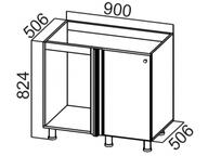Стол рабочий угловой под мойку М1000у Классика
