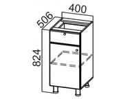 Стол рабочий с ящиком и створками С400яс Классика
