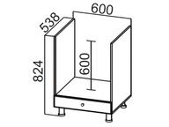 Стол рабочий под плиту С600п Модус