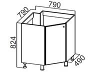 Стол рабочий угловой под мойку М850у Классика