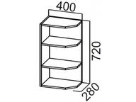 Шкаф навесной торцевой Ш400т Волна
