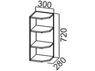 Шкаф навесной торцевой Ш300т SV