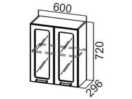 Шкаф навесной со стеклом Ш600с Волна