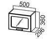 Шкаф навесной горизонтальный со стеклом ШГ500с Классика