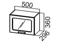Шкаф навесной горизонтальный со стеклом ШГ500с Прованс