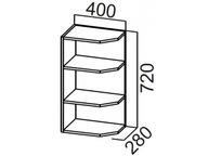 Шкаф навесной торцевой Ш400т Модерн