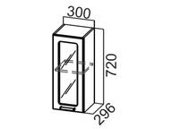 Шкаф навесной со стеклом Ш300с Модерн
