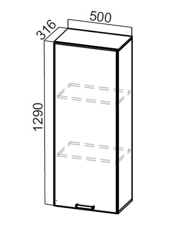 Пенал-надстройка ПН500 Классика