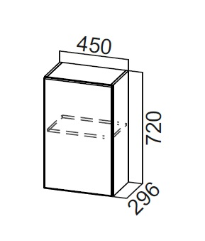 Шкаф навесной Ш450 Модус