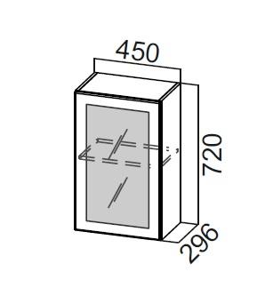 Шкаф навесной со стеклом Ш450с Классика