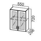 Шкаф навесной со стеклом Ш550с Прованс