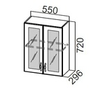 Шкаф навесной со стеклом Ш550с Классика