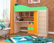 Кровать-чердак Кадет 1 с металлической лестницей