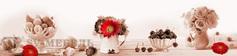Панель стеновая с фотопечатью Розы и вишни 2800х670х3
