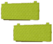 Комплект подушек для кровати 900-4 Стиль Лайм