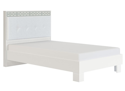 Кровать с мягкой спинкой 1200 мм модуль 1-1 Белла