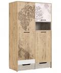 Шкаф для одежды модуль 10 Дублин Стоун
