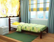 Кровать Милана Мини Lux коричневая