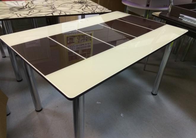 Стол обеденный со стеклом Леон