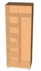 Модуль 1. Шкаф 2-х дверный