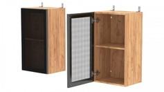 Шкаф навесной со стеклом АМВ40