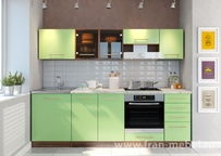 Модульная кухня Арина Ноче марино/салатовая 1