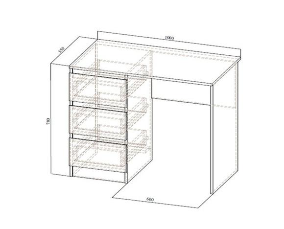 Стол с ящиками Бриз-1
