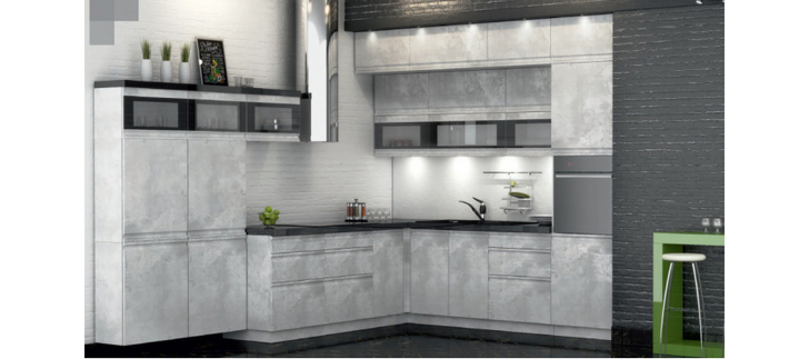 Модульная кухня под мрамор Бронкс 2