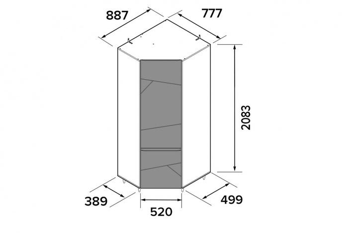 Шкаф угловой Киото СТЛ-339-08