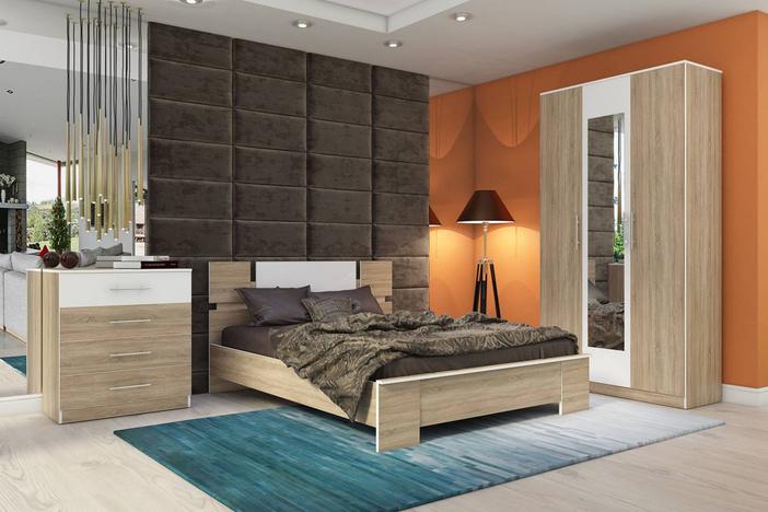 Спальный гарнитур Оливия Дуб сонома 1