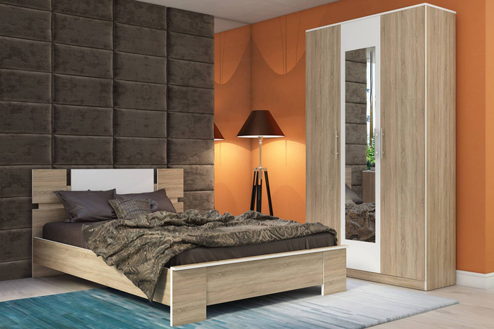 Спальный гарнитур Оливия Дуб сонома 2