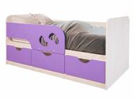 Детская кровать Минима Лего дуб атланта/лиловый сад