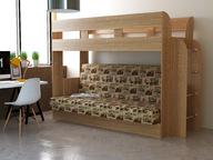 Детская двухъярусная кровать с диваном Дива
