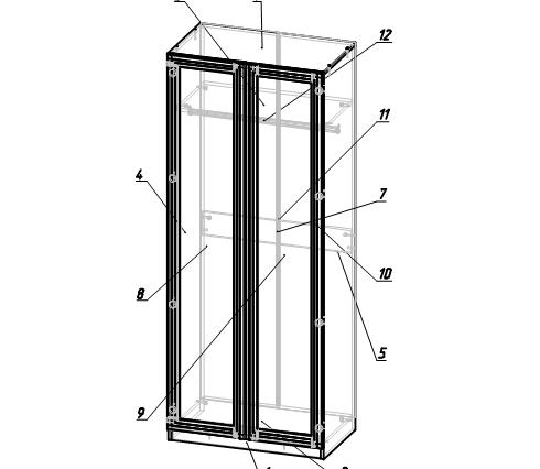 Шкаф двухстворчатый модуль 2 Остин