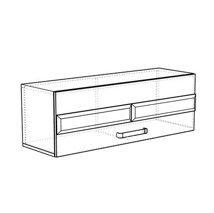 Шкаф навесной горизонтальный модуль 5 Сенатор