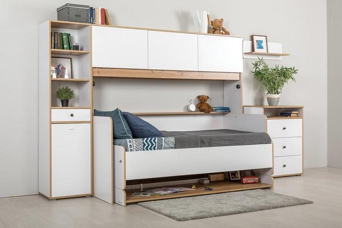 Кровать-трансформер Вуди 11-60 (кровать+стол)