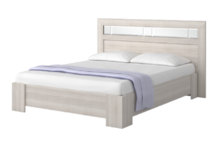 Кровать двуспальная с зеркалами 1600 мм Роксана