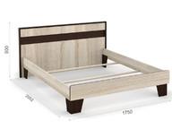 Кровать Эшли 160х200 без ламелей Венге/сонома